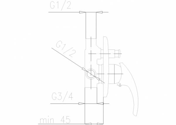 ARMATURA KRAKÓW - Ametyst Bateria wannowa - prysznicowa podtynkowa 409-410-00