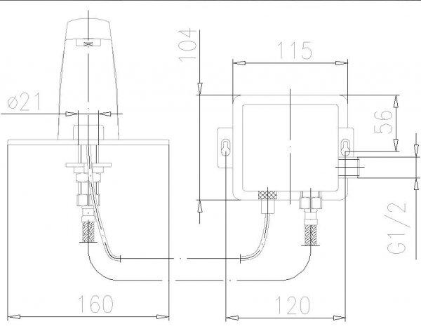 ARMATURA KRAKÓW - Bateria bezdotykowa umywalkowa SWING 592-100-00
