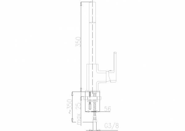 ARMATURA KRAKÓW - Korund Bateria zlewozmywakowa stojąca 4003-915-00