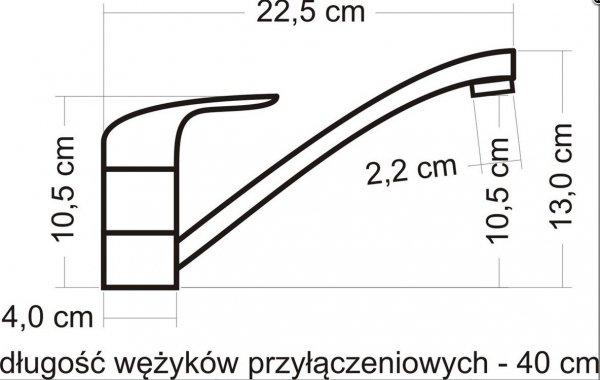 REA- Bateria kuchenna / zlewozmywakowa JAY 814-04