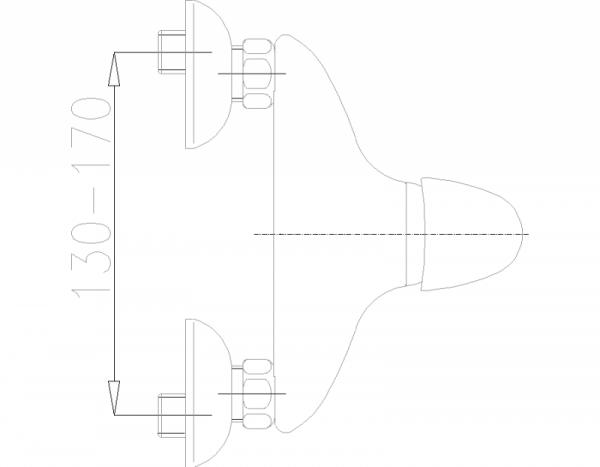 ARMATURA KRAKÓW - Piryt natryskowa ścienna 446-040-00