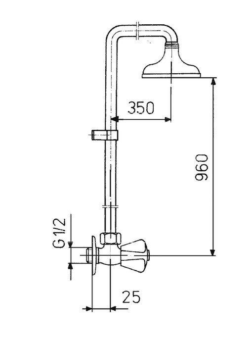 ARMATURA KRAKÓW - Zawór wodny, wypływowy natryskowy ścienny 260-710-00