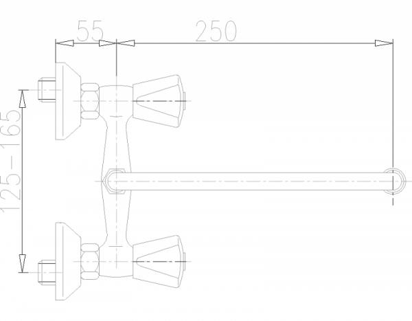 ARMATURA KRAKÓW - Ceramik  Bateria dwuuchwytowa, umywalkowa  330-510-00
