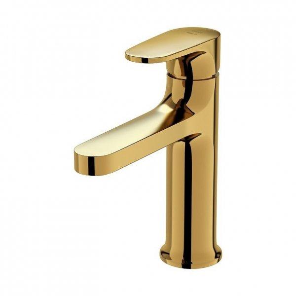 CERSANIT - Bateria umywalkowa sztorcowa INVERTO złota, uchwyty 2 design in 1: złote  S951-297