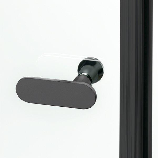 NEW TRENDY Kabina prysznicowa NEW SOLEO BLACK prostokątna pojedyncze drzwi uchylne 90x100x195