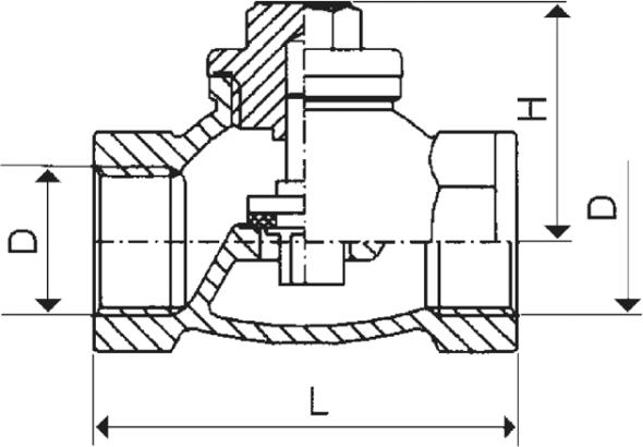 ARMATURA KRAKÓW - zawór zwrotny żeliwny do wody 192-010-50
