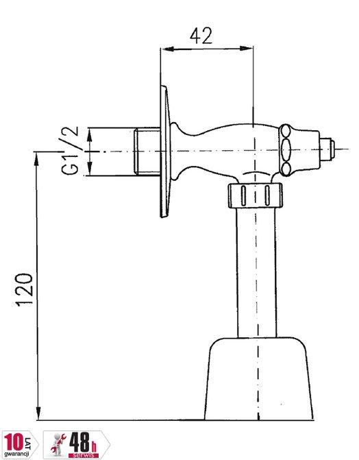ARMATURA KRAKÓW - Zawór wodny pisuarowy 230-000-07