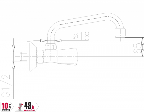ARMATURA KRAKÓW - Ceramik Bateria dwuuchwytowa, umywalkowa 330-310-00