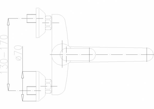 ARMATURA KRAKÓW - Cyrkon Bateria zlewozmywakowa ścienna 580-910-00