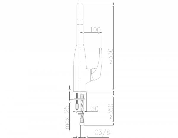 ARMATURA KRAKÓW - DELTA bateria zlewozmywakowa stojąca 6703-915-00