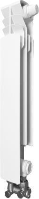 ARMATURA KRAKÓW element prawy G500 F /D/1 z dolnym zasilaniem krzyżowym, z zespołem przyłączeniowym kątowym 878-151-44 grzejnik