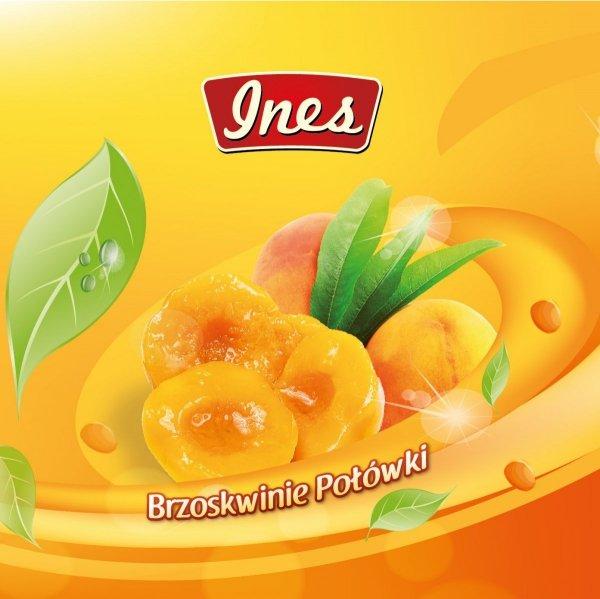 Brzoskwinia w syropie połówki INES 0,82 kg / 0,425 kg