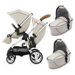 Geschwisterwagen | Zwillingskinderwagen EGG Stroller | + 2 Liegewannen / 2 Sportsitze + Sitzauflage gratis  | BabyStyle | PROSECCO