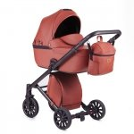 ANEX DISCOVERY/ CROSS Sunset Orange | Kombi-Kinderwagen 2 in 1 mit Liegewanne und Sportwagen | oder 3 in 1 mit Autoschale