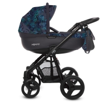 Kombikinderwagen MOMMY | Night Paradise | Alu Gestell in schwarz