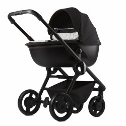 ANEX QUANT Qn01 | STEAM/ hellgrau | Kombi-Kinderwagen 2 in 1 mit Liegewanne und Sportwagen | optional Autoschale