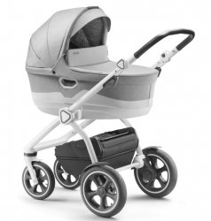 Jedo TRIM M-line / Kombi Kinderwagen / Light Grey / Alu Gestell in Weiß