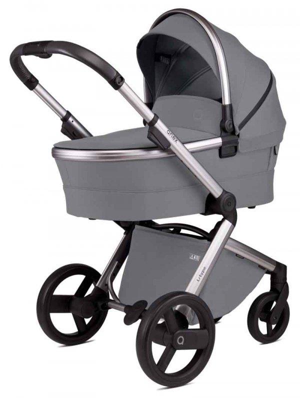 ANEX L-Type Stone/ Grau  Kombi-Kinderwagen 2 in 1 mit Babywanne und Sportwagen   oder 3 in 1 mit Autoschale