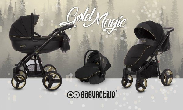 Kombikinderwagen MOMMY | Gold MAGIC | Limited Edition | Alu Gestell in Gold oder Schwarz