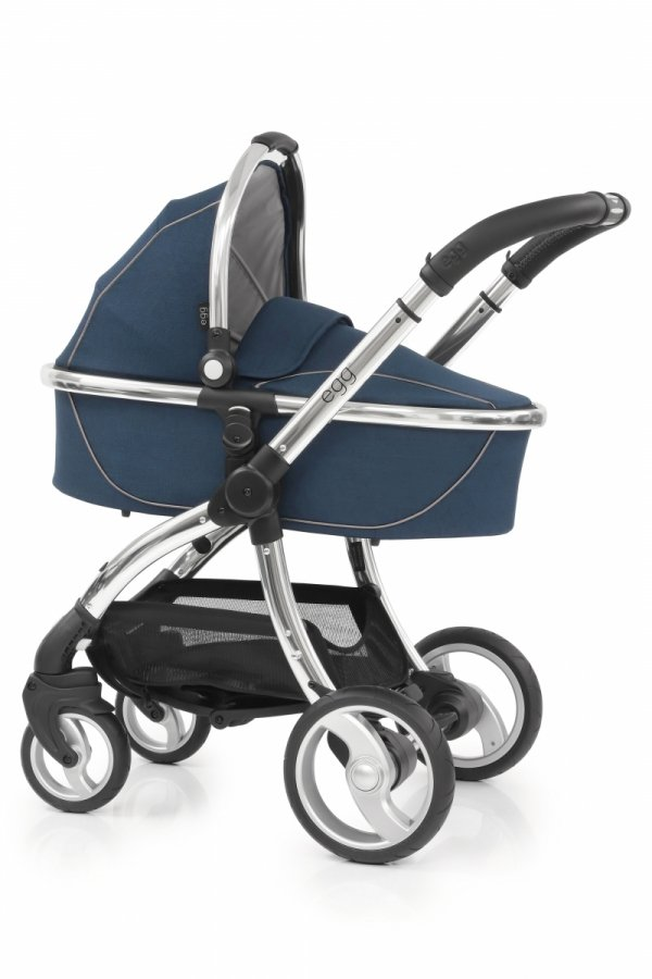 Kombikinderwagen EGG Stroller | Babywanne + Sportsitz +Alu-Gestell | + Becherhalter &  Sitzauflage gratis | Deep Navy