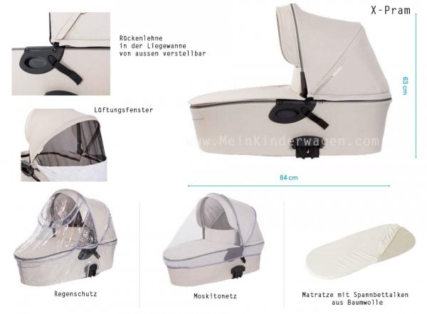 X-Pulse Night Blue |  Buggy / Kombi Kinderwagen X-Lander