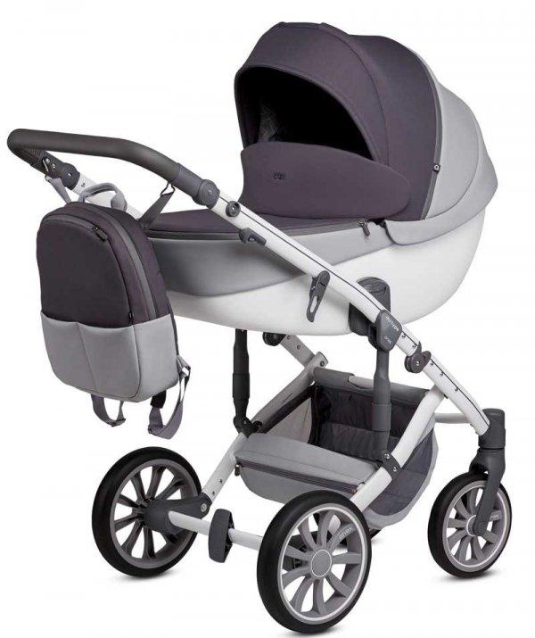 ANEX m-Type GREY CLOUD   Kombi-Kinderwagen 2 in 1 mit Babywanne und Sportwagen   oder 3 in 1 mit Autoschale
