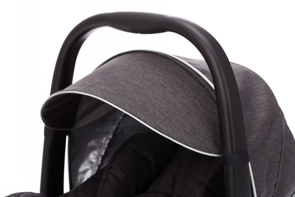 FILL Kombikinderwagen 3 in 1 | Dark Grey | Alu Gestell in Schwarz | Fillikid