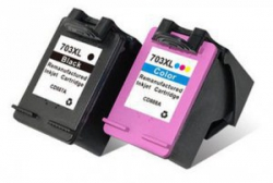 Zgodny Komplet tuszy do HP 703 DeskJet f735 d730 Ink Advantage K209A TD-CD887AE