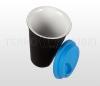 Kubek termiczny ceramiczny 350 ml ARTI (czarny/niebieski)