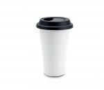 Kubek termiczny ceramiczny TUMBI 350 ml (biały/czarny)