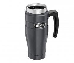 Kubek termiczny Thermos Travel King 470 ml z rączką (grafitowy)