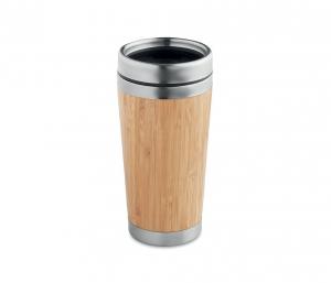 Kubek termiczny z bambusa i stali 420 ml AMBEO CUP (bambusowy)