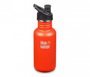 Butelka Klean Kanteen Classic z nakrętką Sport Cap 532 ml (sierra sunset) pomarańczowy