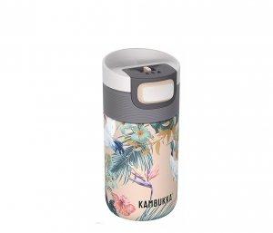 Kubek termiczny Kambukka Etna 300 ml (Paradise Flower) beżowy