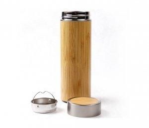 Termos z bambusa i stali 420 ml z zaparzaczem AMBEO THERM (bambusowy)