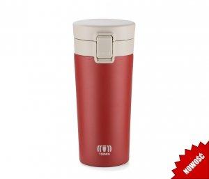 Kubek termiczny ENKI2 z sitkiem 350 ml szczelny z blokadą (czerwony)