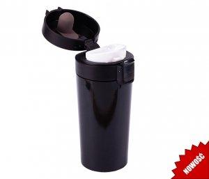 Kubek termiczny ENKI 350 ml szczelny z blokadą (czarny)