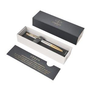 Długopis Parker Urban Premium z Twoim grawerem + pudełko prezentowe (złoty/srebrny)