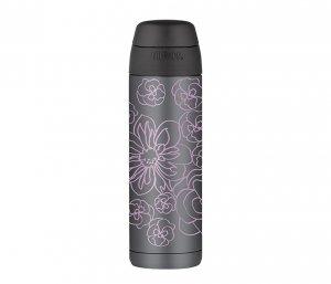Kubek termiczny ze słomką Thermos Style 530 ml (grafitowy/czarny) motyw ametyst