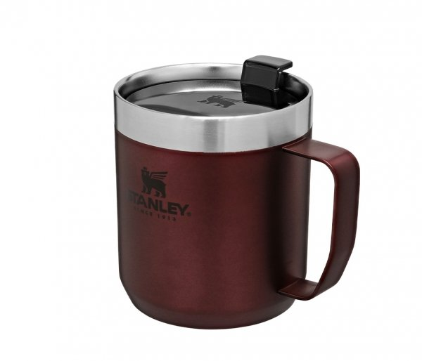 Kubek termiczny kempingowy Stanley Classic Camp Mug 350 ml bordowy