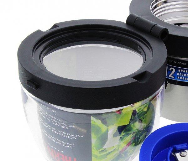 Termos obiadowy dwukomorowy Thermos 600 ml + 470 ml stalowy