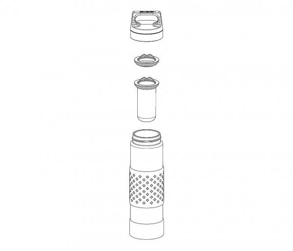 Termos szklany SIGG WMB z zaparzaczem HOT & COLD Glass 400 ml Midnight
