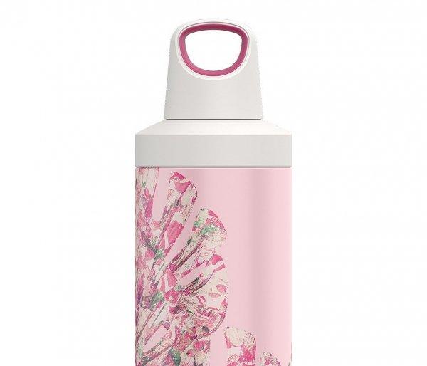Butelka termiczna Kambukka Reno 500 ml Monstera Leaves różowy