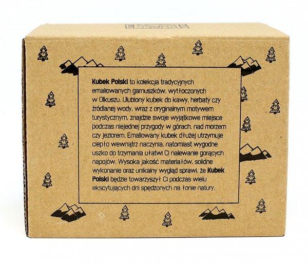 Kubek Polski Przyrodnika emaliowany 350 ml biały