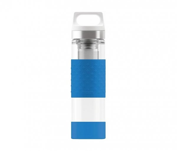 Termos szklany SIGG WMB z zaparzaczem HOT & COLD Glass 400 ml Electric Blue