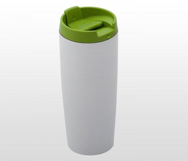 Kubek termiczny 390 ml LADY PLUS (biało-zielony)