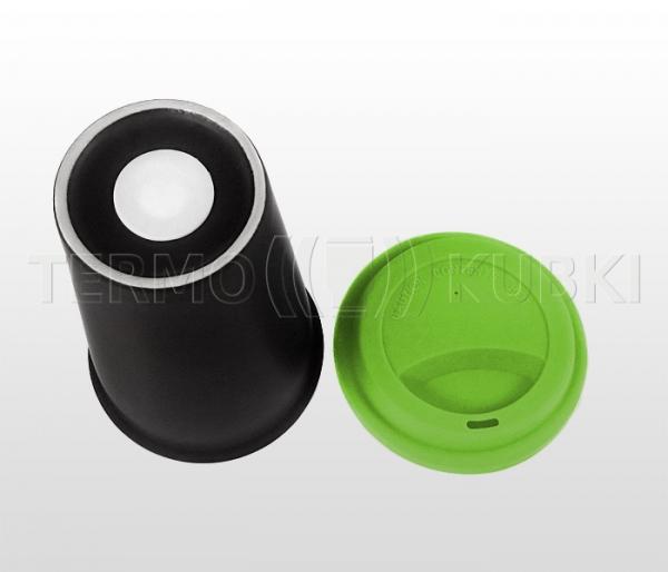 Kubek termiczny ceramiczny 350 ml ARTI (czarny/zielony)