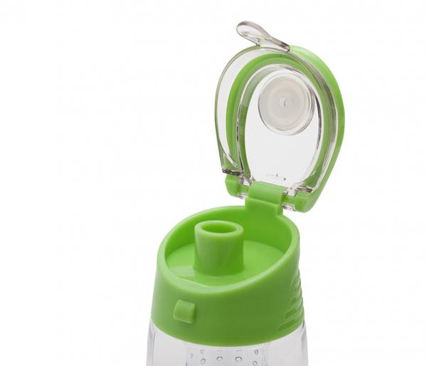 Bidon z koszykiem na owoce 700 ml FRESHER (zielony)