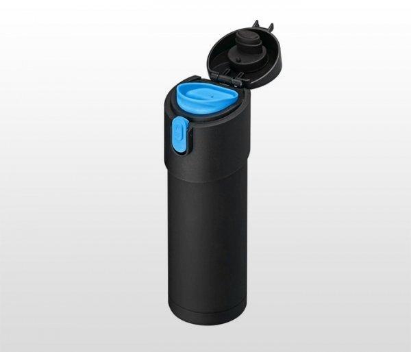 Kubek termiczny z zaparzaczem 350 ml PAO (czarny/niebieski)