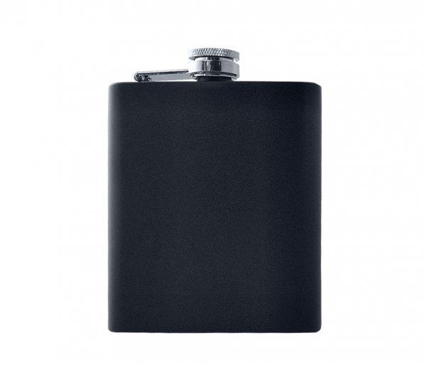 Piersiówka stalowa czarna matowa 200 ml FLASKY